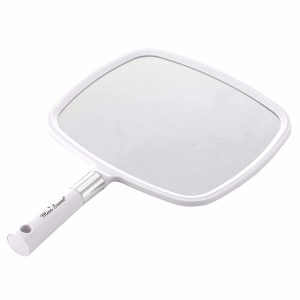Miss Sweet Handheld Mirror 9inch8inch Makeup Mirror (White)