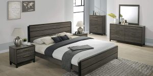 Roundhill Furniture Ioana 187 Antique Grey Finish Wood Bed Room Set