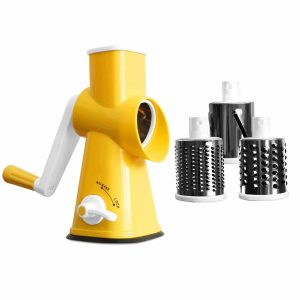 BNUNWISH- Rotary Cheese Stainless Steel Drums Round Grater