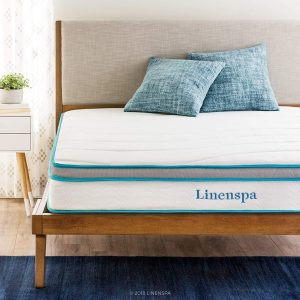 LINENSPA 8 Inches Twin Hybrid Mattress