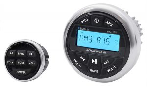 Rockville RGHR2 Marine Gauge W Bluetooth, Radio and USB