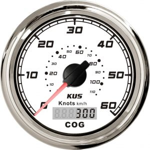 KUS Waterproof Speed Gauge GPS Speedometer 0-60Knots for Boat