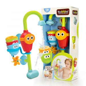 Yookidoo- Baby Bath Toy 3 Stackable Cups Flow N Fill Spout Waterfall Spout