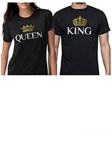 King and Queen Matching Couple Set T-Shirts