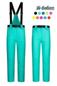 ELETOP Women's Waterproof Windproof Snow Pants 10 Colors
