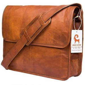 Urban Leather Size 15 inch Messenger Bags for Men and Women