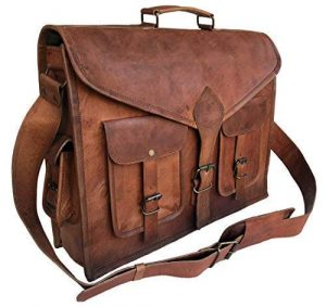 Komal's Passion Leather- Rustic Vintage 18 Inch Leather Messenger Bag