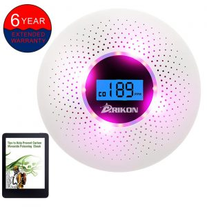 ARIKON Smoke and CO Detector Combo, with Alarm and Number Display