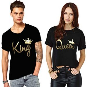 We2 Cotton King and Queen Couple T-Shirts