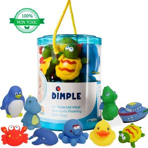 Dimple Bath Toys Set Non-Toxic Floating Sea Animal Bathtub Toy