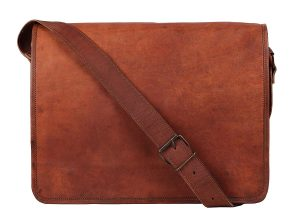 Rustic Town Vintage Crossbody 15 inch Genuine Leather Messenger Bag