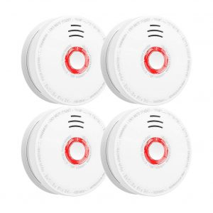 SITERWELL Photoelectric Sensor Smoke Fire Alarm for Home Hotel School