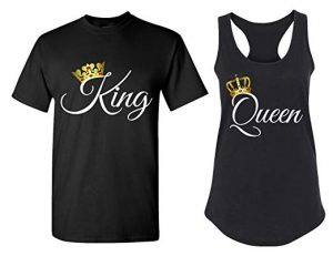 Cute Matching Couple T-Shirts - His and Hers Racerback Tank Tops