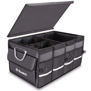 Knodel Sturdy Trunk Heavy Duty Collapsible Organizer Waterproof (Gray)