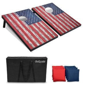 GoSports Classic Designs Cornhole Set with Game Rules and Travel Case