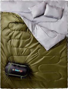 Sleepingo Double 2 Person Waterproof Sleeping Bag for Adults or Teens