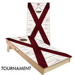 Slick Woody's Cornhole Co. Rustic State Cornhole Boards Sets