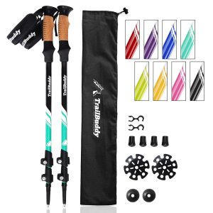 TrailBuddy 2-pc Pack Strong, Lightweight Trekking Poles