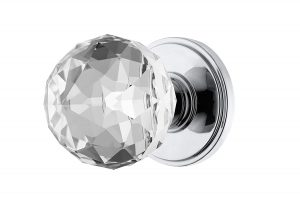 Decor Living, AMG Bed and Bath Faceted Crystal Door Knobs