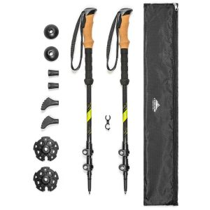Cascade Mountain Tech Walking or Hiking Stick Quick Lock Trekking Poles