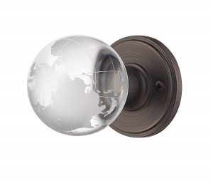 Decor Living, AMG Modern Globe Accessories Crystal Door Knobs