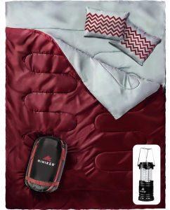 HiHiker Double 2 Person Camping, Hiking Sleeping Bag Queen Size XL