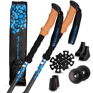High Stream Gear Trekking Ultra-Lightweight Carbon Fiber Poles