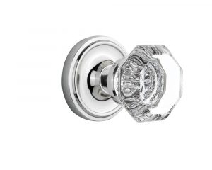Nostalgic Classic Rosette Warehouse Crystal Door Knob