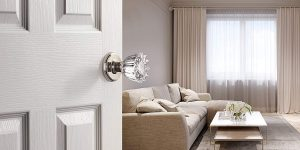 Decor Living, AMG and Enchante Accessories Classic Tulip Crystal Door Knobs