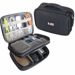 BUBM Double Layer Travel Electronic Organizer