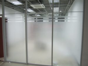 DUOFIRE Privacy Window Natural Frosted Film Static Cling Glass Film
