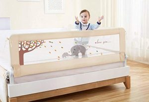 BABY BBZ 59inch Single Foldable Safety Bed Rail (Beige Color)