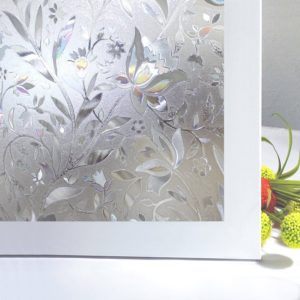 Bloss Static Cling Window Film No Glue with Decorative Pattern Design