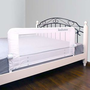 KOOLDOO 51 inches Fold down Children Toddlers Safety Bed Rail