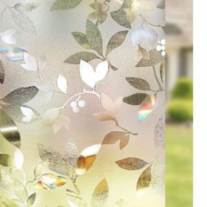 Rabbitgoo 3D Window Decorative Leaf Film Privacy Window Film