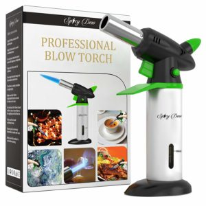 Spicy Dew Blow Creme Brulee Torch with Adjustable Flame