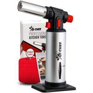 Jo Chef Kitchen Torch Refillable Butane Blow Torch