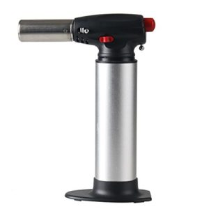 Inter Forte Micro Blow Torch Heavy Duty Flame Forte Butane Torch (Gray)