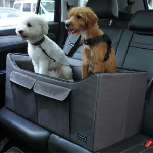 Petsfit Dog Car Booster Seat with 2 Tethers