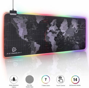 JYZZ RGB Gaming Large Cool RGB Rubber Non-Slip Base Mouse Pad