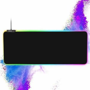 YCYCSY RGB Gaming Large Black Mouse pad with 14 Lighting Modes
