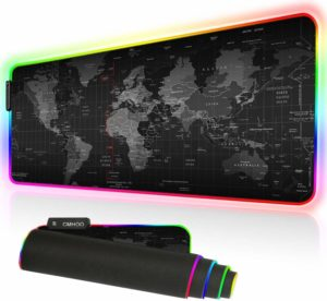 Duboon XXL RGB Non-Slip High-Speed Tracking Gaming Mouse Pad