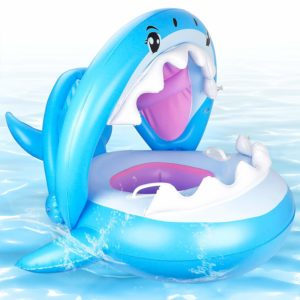 CHGeek Shark-Shaped Infant Baby Pool Float for Kids Aged 9-36 Months