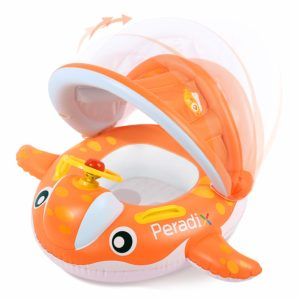 Peradix Inflatable Baby Pool Float with Whale Theme