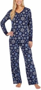 Nautica Women's Fleece Pajama 2 Piece Sleepwear Set
