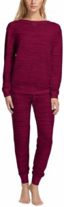 Felina Women's 2 Piece Jogger Lounge and V-Notch Crew Neck Pajama Set