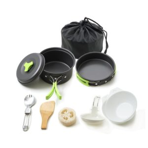 Honest Portable Folding Cookset 10 Piece Camping Cookware Mess kit