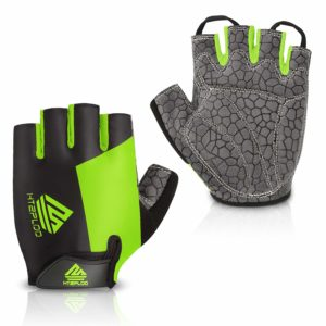 HTZPLOO Biking Gloves with Shock-Absorbing Anti-Slip Pad for Men