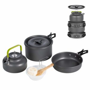 Terra Hiker Lightweight Nonstick Camping Cookware with Mesh Set Bag