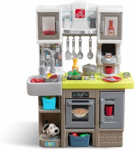 Step2 Contemporary Colorful Plastic Chef Kitchen with 25-Pc